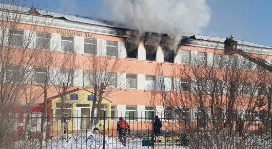 Вдетдоме Астаны произошел пожар: сотрудницу доставили в поликлинику