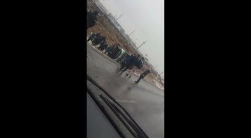 Пассажирский автобус с людьми перевернулся в Кызылорде