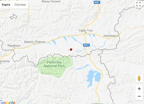 Землетрясение магнитудой 4.4 произошло в 535 км от Алматы