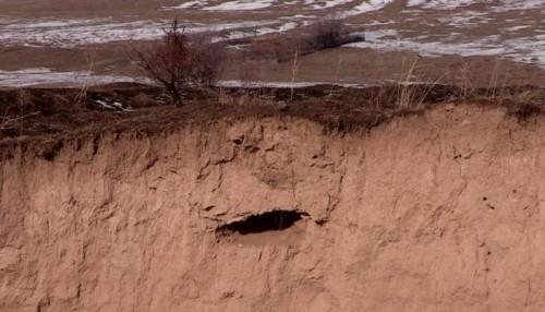Останки умерших в поселке ЮКО из кладбища смывает в реку