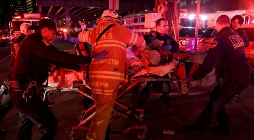Вертолет упал в пролив в Нью-Йорке