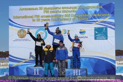 В городе Щучинск завершились FIS гонки и Чемпионат РК по лыжным гонкам