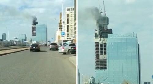 """Дым на стройке """"Абу-Даби Плаза"""": появилась предварительная информация"""
