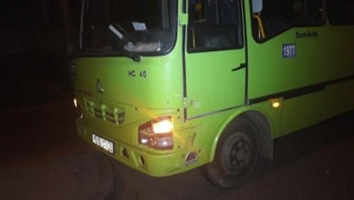 Mitsubishi Pajero столкнулся с автобусом в Алматы - трое детей в больнице