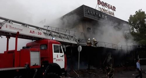 Донерная загорелась в Алматы