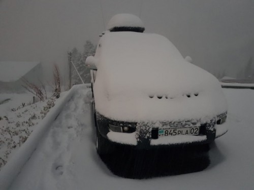 Алматинцы снимают снег и ждут дождевых паводков