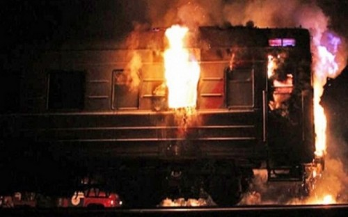 Близ Жезказгана сгорел вагон-ресторан: Причина пожара установлена