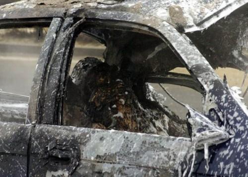 Покупателя задушили и сожгли вместе с машиной в ЮКО