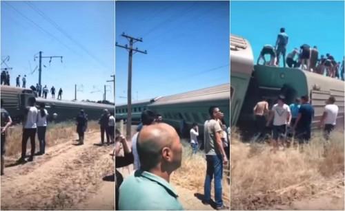 Пассажирский поезд Астана – Алматы сошел с рельсов: Есть пострадавшие (ВИДЕО)