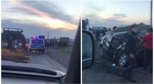 Жуткое ДТП произошло на трассе Караганда - Шахтинск