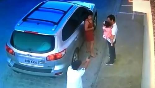 Камера запечатлела расправу над бразильским адвокатом на глазах его дочери