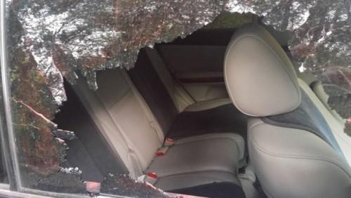 В ста метрах от места гибели Дениса Тена напали еще на одну машину