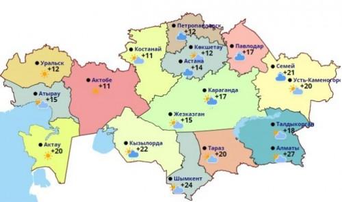В Казахстане сохранится жаркая погода