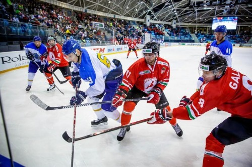 Сборная Казахстана по хоккею победила венгров на Евровызове
