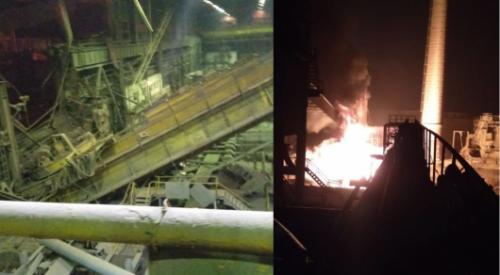 ЧП на металлургическом комбинате в Темиртау: загорелся газопровод