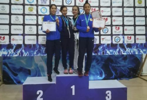 Акмолинские таеквондисты завоевали «серебро» чемпионата страны