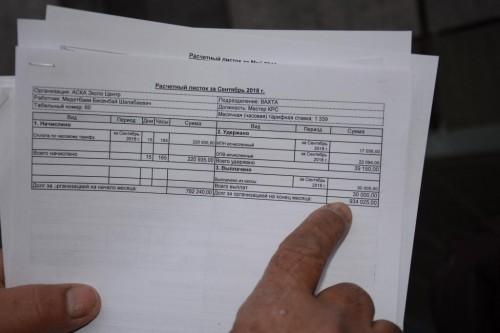 Почти 8 миллионов тенге по зарплате  задолжало ТОО «АСКА ЭСКО Центр» своим рабочим в Актобе