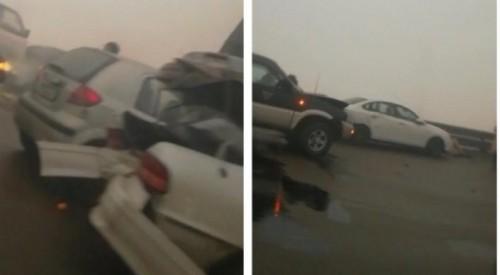 Массовая авария произошла на трассе Алматы - Капшагай