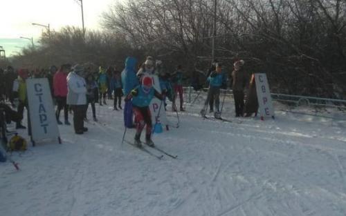 В Кокшетау прошли лыжные гонки