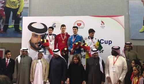Казахстанский шпажист выиграл «бронзу» Кубка мира в Бахрейне