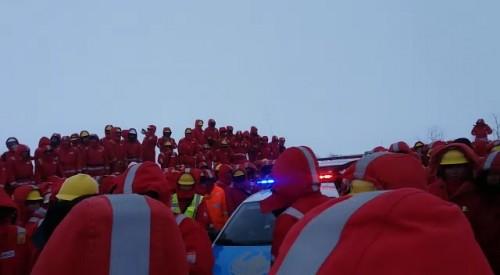 Рабочие «KSS SICIM» вышли на забастовку в Аксае ЗКО (ВИДЕО)