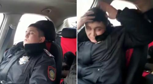 """Видео со спящим полицейским в Астане: что стало с """"героями"""" ролика"""