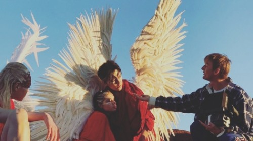 Димаш предстал в образе ангела на съемках клипа в Испании