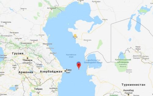 В Каспийском море в 339 километрах от Актау произошло землетрясение