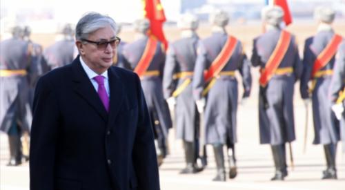 Токаев прибыл с первым официальным визитом в Москву