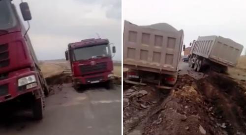 """Водителей """"утонувших"""" грузовиков оштрафуют"""