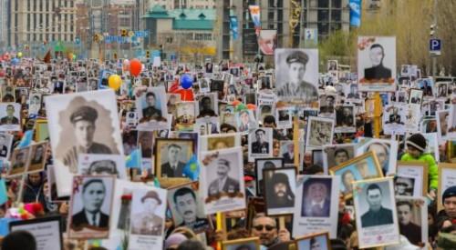 """Где пройдут марши """"Бессмертного полка"""" в Казахстане"""
