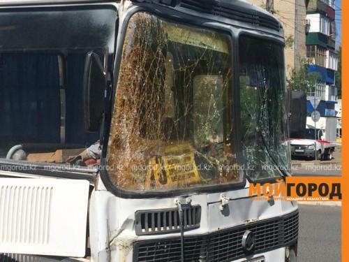 В Уральске столкнулись два пассажирских автобуса, есть пострадавшие