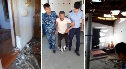 Аксакал сутки провел в поврежденном взрывной волной доме в Арыси