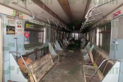 Появились фотографии взорванного в петербургском метро вагона