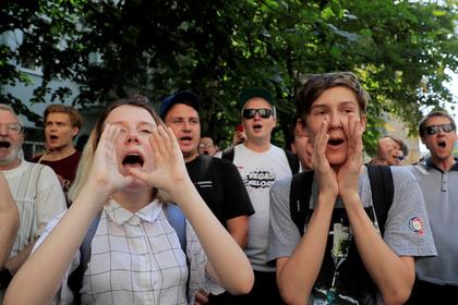 Названо число участников несогласованной акции у мэрии Москвы