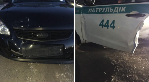 Кортеж с невестой сбил двух полицейских в Алматы