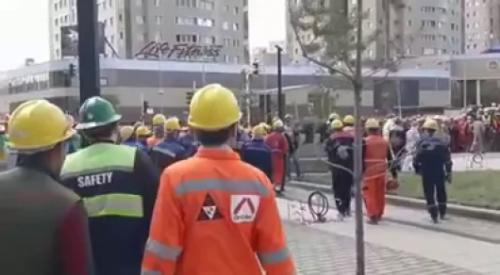 """На сообщения о митинге рабочих """"Абу-Даби плаза"""" ответили в акимате"""