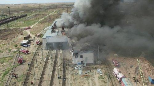 Пожар в Арыси: подробности сообщили в КЧС