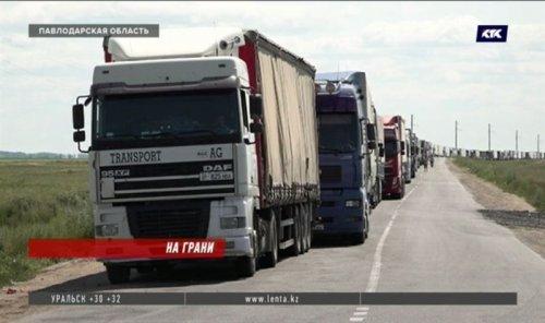 Сотни фур застряли на КПП казахстанско-российской границы