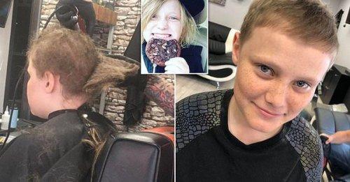 Не стригшийся десять лет подросток привел парикмахера в ужас