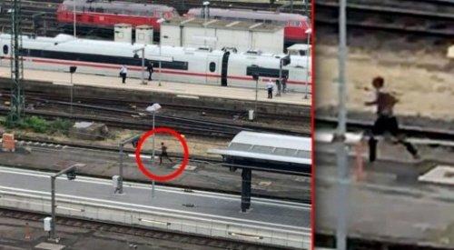 В Германии мигрант толкнул под скоростной поезд мать с ребенком
