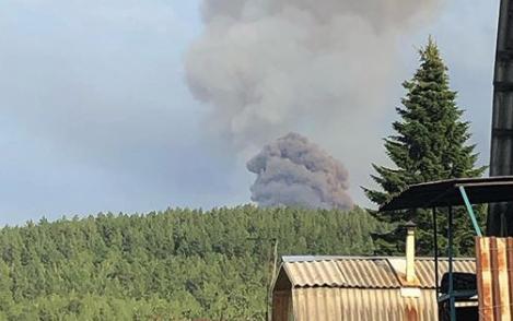 На территории воинской части в Красноярском крае произошел взрыв