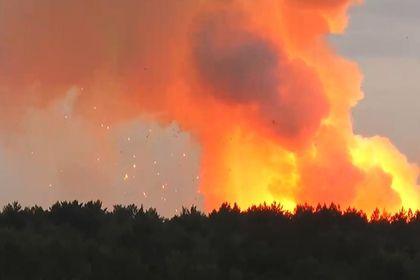 Пожар на складе боеприпасов под Красноярском потушен