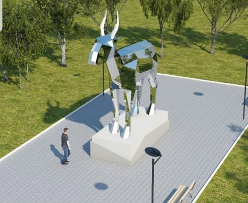 Ответ алматинской Белке: Семиметровый сайгак из зеркального пластика будет установлен в Костанае