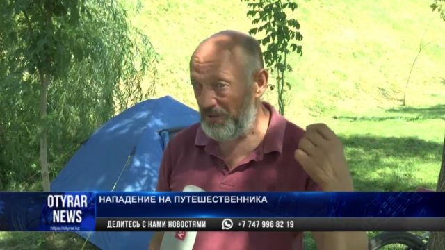 Горожане и акимат Шымкента помогают велотуристу из Украины