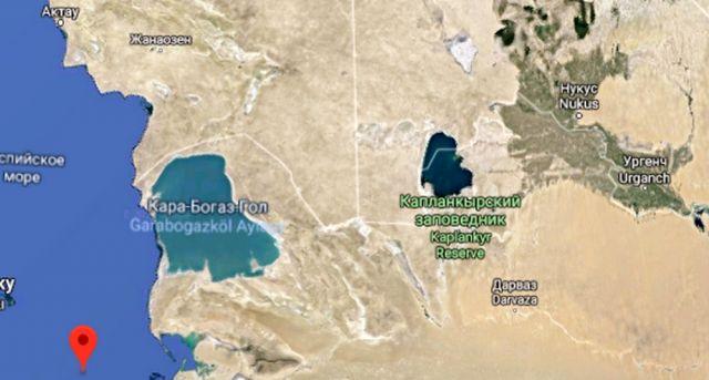 Землетрясение зафиксировали в Каспийском море