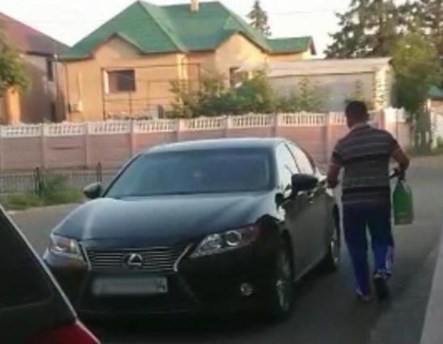 Владелец Lexus представился волонтерам как малоимущий