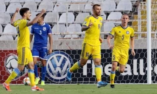 Сборная Казахстана на выезде сыграла вничью с Кипром в отборе на ЕВРО-2020