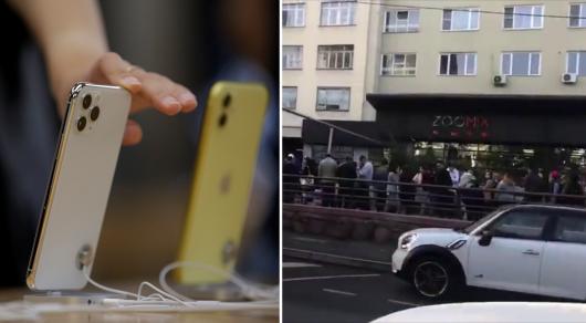 Очередь за новыми iPhone в Алматы