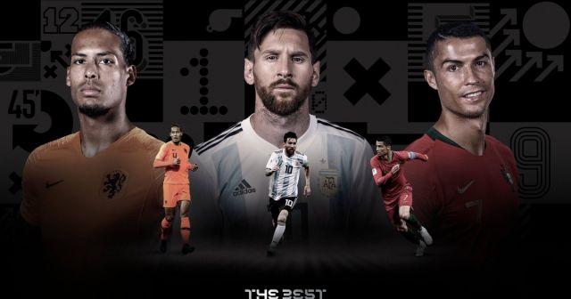 ФИФА объявила трёх лучших футболистов года